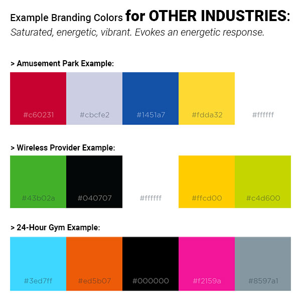 Example Colors for Non-Therapist Industries