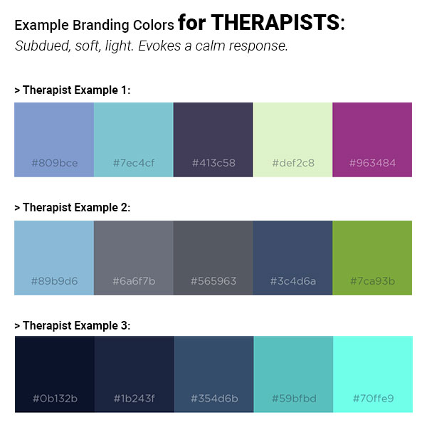 Example Colors for Therapists